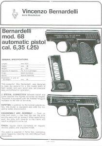 Bernardelli Baby 6,35 mm manuel
