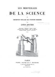 Page de garde du livre les merveilles de la science.