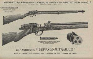 Gravure carabine Buffalo Mitraille